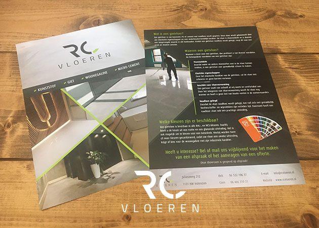 RC Vloeren – flyer